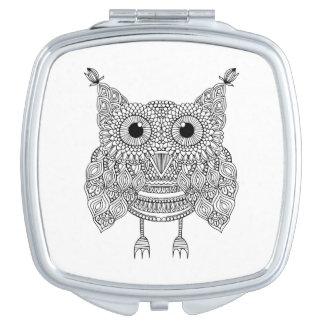 Cute Doodle Owl Vanity Mirrors