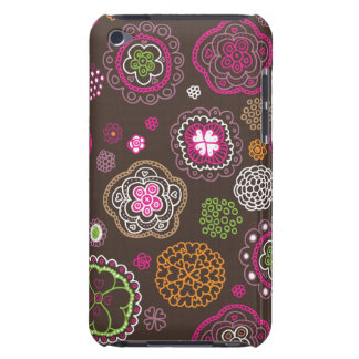 Cute doodle retro flowers heart pattern design iPod touch Case-Mate case