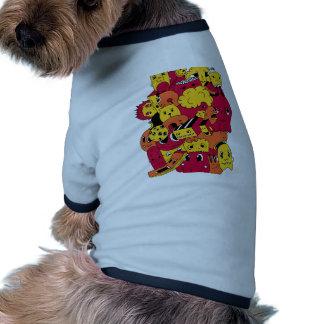 cute doodls ringer dog shirt