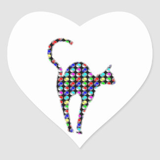 CUTE dot painted CAT pet animal NVN86 NavinJOSHI Heart Sticker