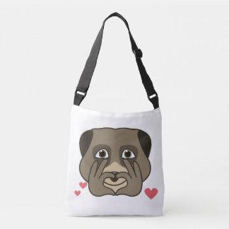 Cute double meerkat design, cartoon style. crossbody bag