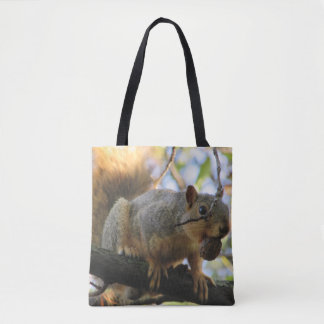 Cute Double Sided Squirrel Tote Bag
