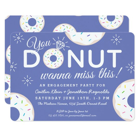 Cute Doughnut Engagement Party Invitations