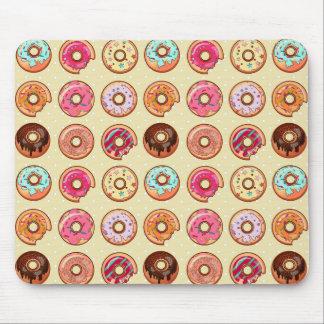 Cute Doughnut Pattern Mouse Mat