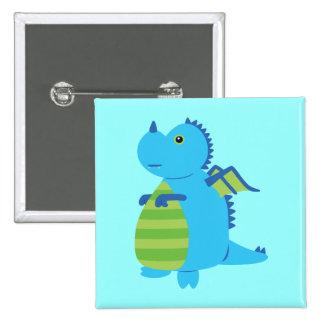 Cute Dragon 15 Cm Square Badge