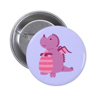 Cute Dragon 6 Cm Round Badge