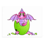 Cute Dragon Baby in Cracked Egg - Pink / Purple
