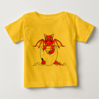 Cute Dragon Baby in Cracked Egg - Red / Yellow Baby T-Shirt