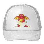 Cute Dragon Baby in Cracked Egg - Red / Yellow Cap