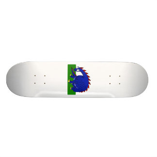 Cute Dragon Blue Skate Board