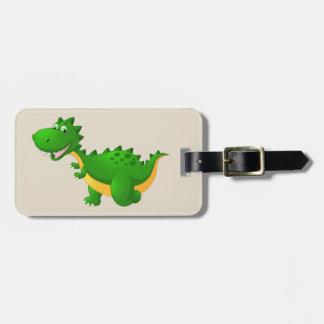 Cute Dragon Cartoon Luggage Tag