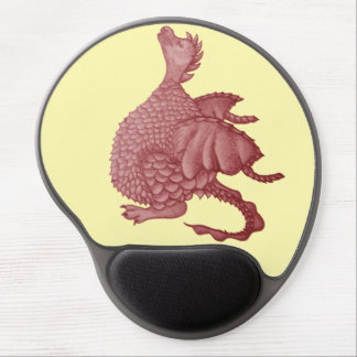 cute dragon mythical and fantasy creature art gel mouse pad