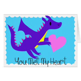 Cute Dragon Valentines Day Card Dragon Valentines