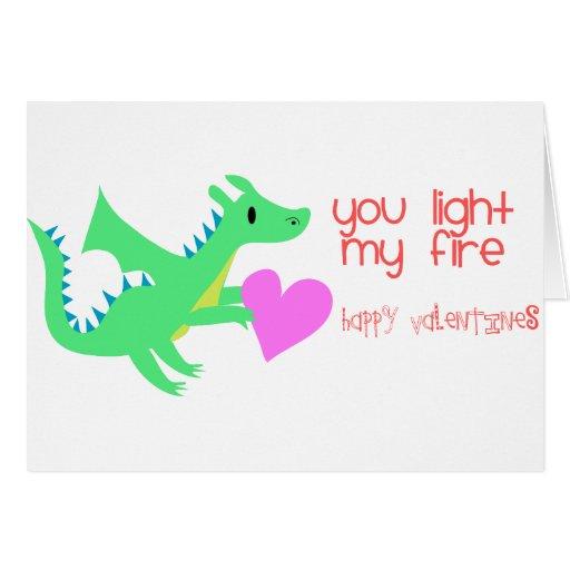 Cute Dragon Valentines Day Card Dragon Valentines