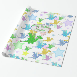 Cute Dragons Pattern Wrapping Paper