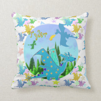 Cute Dragons with customizable Name Tyler Cushion