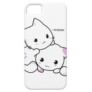 Cute Drawing of Boy and Girl Kitten in Love iPhone 5 Covers