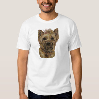 Cute Drawing of Happy Yorkie Silky Shirts