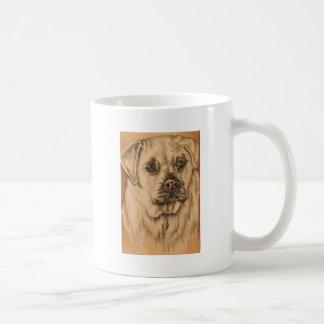 Cute Drawing of White Lab Puppy Dog Basic White Mug