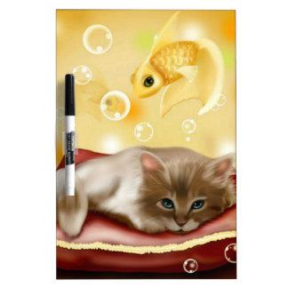 Cute Dream Kitten Dry Erase Board