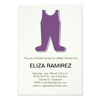 cute dress baby shower 13 cm x 18 cm invitation card