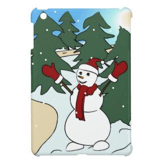 Cute dressed up snowman iPad mini cases