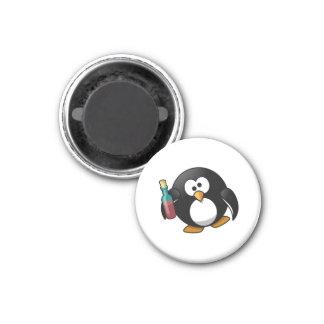 Cute Drunken Penguin Art Fridge Magnets