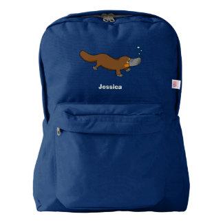 cute duck billed platypus backpack