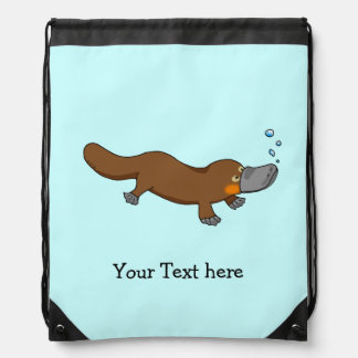 cute duck billed platypus - just add name backpack