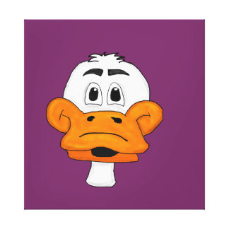 Cute duck design matching stationery items gallery wrapped canvas