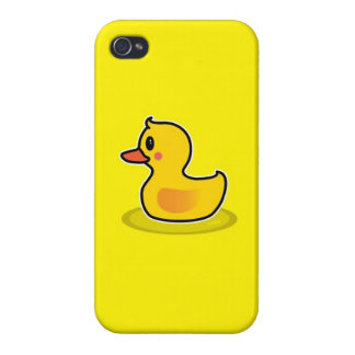 Cute Duck Swimming Cartoon Case For The iPhone 4