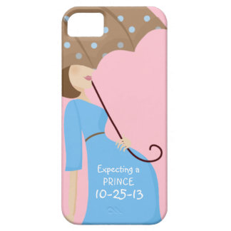 Cute Due Date Gender Reveal Pregnant Woman Case For The iPhone 5