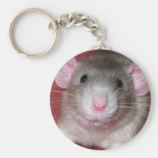 Cute Dumbo Rat Basic Round Button Key Ring