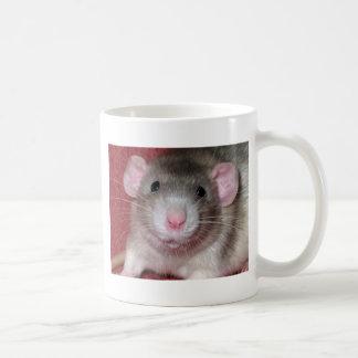 Cute Dumbo Rat Basic White Mug