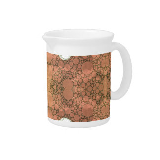 Cute Earthy Heart Abstract Drink Pitcher