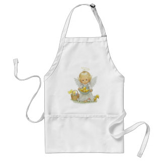 Cute Easter Angel And Ducklings Standard Apron