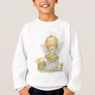 Cute Easter Angel and Ducklings Sweatshirt