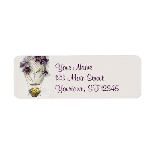 Cute Easter Balloon Return Address Labels