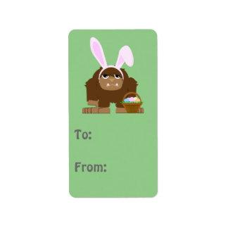 Cute Easter Bigfoot Address Label