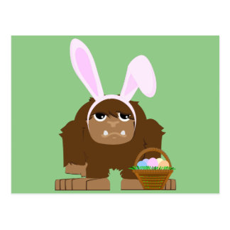 Cute Easter Bigfoot Postcard