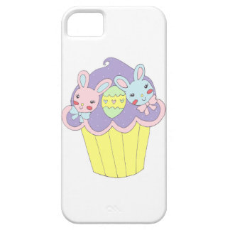Cute Easter Bunnies Cupcake iPhone 5 Cover