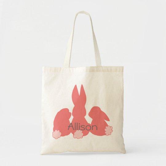 Cute Easter Bunnies - Personalised Budget Tote