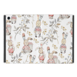 Cute Easter Bunnies Watercolor Pattern iPad Mini Case