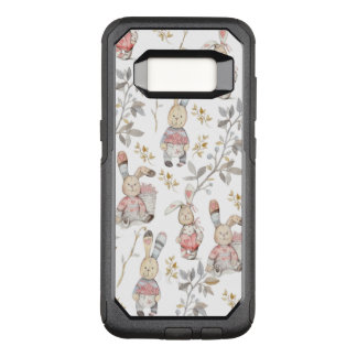 Cute Easter Bunnies Watercolor Pattern OtterBox Commuter Samsung Galaxy S8 Case