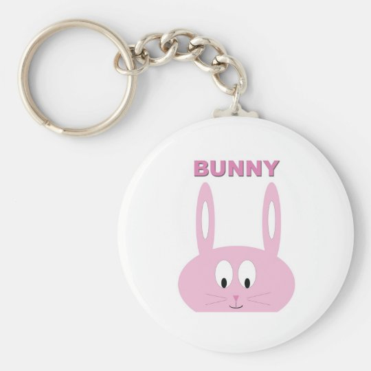 Cute Easter Bunny Character Basic Round Button Key Ring