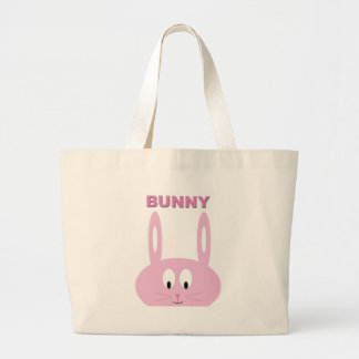 Cute Easter Bunny Character Large Tote Bag
