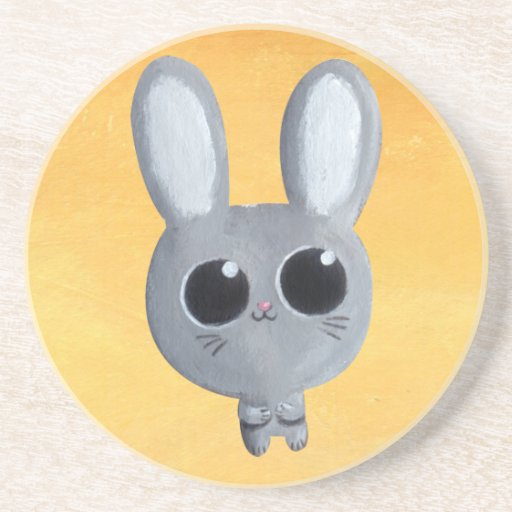 Cute Easter Bunny Drink Coaster