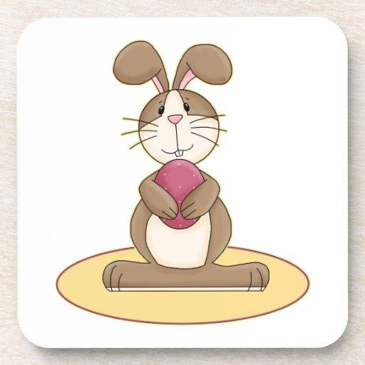 Cute Easter Bunny Beverage Coaster