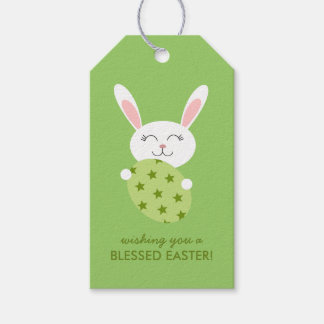 Cute Easter Bunny (Green) Gift Tags