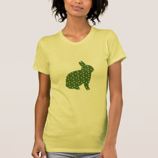 Cute Easter bunny olive green with white spots Tee Shirts